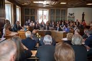 Die erste Landratssitzung mit den Neugewählten am 27. Juni in Stans. (Bild: Corinne Glanzmann)