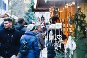 Der Weihnachtsmarkt Frauenfeld feiert in diesem Jahr sein 20-jähriges Bestehen. (Bild: Donato Caspari, 16. Dezember 2017)