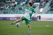 Gianluca Gaudino Ende Oktober im Dress des FC St.Gallen. (Marc Schumacher/freshfocus)