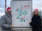 Stefan Hafner (links) und Deborah Angehrn vom OK des Bummelsunntigs. (Bild: PD)