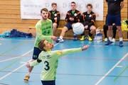 Widnau startete mit Captain Mario Kohler erfolgreich in die Hallensaison und holte in zwei Spielen zwei Siege. (Bild: Fabio Baranzini/Swiss Faustball)
