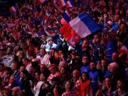 Ein Bild der Vergangenheit: Emotionen bei einem Davis-Cup-Final mit Heimfans (am Sonntag im französischen Lille) (Bild: KEYSTONE/AP/THIBAULT CAMUS)