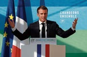 Emmanuel Macron während seiner Erklärung im Pariser Élysée-Palast. (Bild: Ian Langsdon/AP; 27. November 2018)