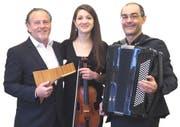 Urban Frey, Tabea Frei und Paolo D'Angelo. (Bild: PD)