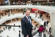 Centermanager Jan Wengeler anlässlich der Eröffnung der Mall of Switzerland. (Bild: Nadia Schärli (Ebikon, 8. November 2017))