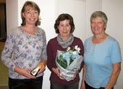 Von links: Ruth Gasser-Spichtig, Pia Rohrer-Ming und Präsidentin Paula Halter-Furrer. (Bild: PD)