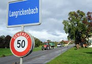 Ortseinfahrt in Langrickenbach. (Bild: Nana do Carmo)
