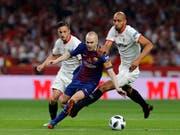 Andres Iniesta wurde mit dem FC Barcelona neunmal spanischer Meister und gewann mit den Katalanen viermal die Champions League (Bild: KEYSTONE/AP/PAUL WHITE)