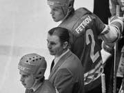 Legendärer Trainer an der Bande des sowjetischen Nationalteams und von ZSKA Moskau: Viktor Tichonow (Bild: KEYSTONE/AP)