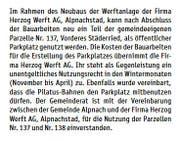 So informierte der Gemeinderat im« Blettli» im Januar 2017.