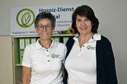 Erika Ulmann (r.) übernimmt per 1. Januar 2019 die Geschäftsstellenleitung des Hospiz-Dienstes Rheintal von Regula Bont. Das Büro befindet sich an der Kugelgasse 3 in Altstätten. (Bild: radi)