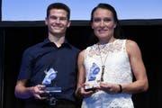 ZKB Gesamtcupsieger Nicole Lohri und Christian Mathys. (Bild: PD)