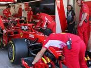 Bereits nach zwei Stunden hatte Charles Leclerc die Tagesbestzeit von Ferrari-Teamkollege Sebastian Vettel am Dienstag verbessert (Bild: KEYSTONE/AP/KAMRAN JEBREILI)