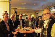 Der Altdorfer Gemeinderat hatte viel Spass an der «Gemeindeversammlung» von Mike Müller im Theater Uri. (Bild: Markus Zwyssig (Altdorf, 27. November 2018))