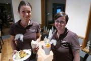 Conny Huser (links) und Monika Baumann sollen das Restaurant Träumli in Seelisberg in Fahrt bringen. (Bild: Christoph Näpflin (22. November 2018))