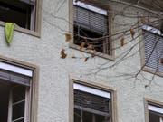 Die Zahl der Todesopfer nach dem Brand vom Montag in einem Mehrfamilienhaus in der Stadt Solothurn erhöht sich auf sieben. (Bild: Keystone/ALEXANDRA WEY)