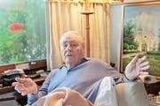 Baron Eduard von Falz- Fein an seinem 100. Geburtstag, in seiner Villa in Vaduz (Bild: Elma Korac)