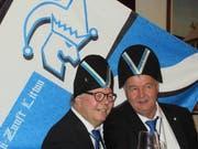Der neue Zunftmeister Franz Bleisch (links) mit seinem Weibel Daniel Steger. (Bild: PD)