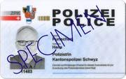 Der nächste Schritt zur Vereinheitlichung der regionalen Polizeistellen: Der neue Ausweis. (Bild: PD)