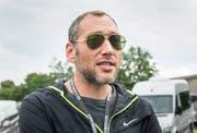 Andre Lieberberg beim Medienrundgang während des Open Airs Frauenfeld 2018. (Bild: Andrea Stalder).