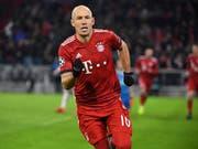 Bewies in der Champions League, dass noch mit ihm zu rechnen ist: Bayern-Stürmer Arjen Robben (Bild: KEYSTONE/AP dpa/SVEN HOPPE)
