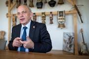 Bundesrat Ueli Mauer wird wohl am 5. Dezember zum Bundespräsident erkoren. (Bild: Boris Bürgisser, Bern, 27. April 2018)