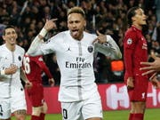Neymar erzielte das 2:0 für Paris Saint-Germain (Bild: KEYSTONE/EPA/YOAN VALAT)