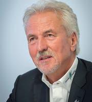 Dölf Früh: Von 2010 bis 2017 Präsident des FC St.Gallen. (Bild: Urs Bucher, 1.Dezember 2016)