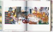Die Seite aus dem Taschen-Band zeigt das Werk «Selbstporträt mit 50millionenfacher Lichtgeschwindigkeit» von 2004. (Bild: PD/Taschen-Verlag)
