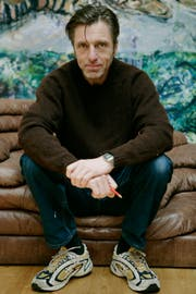 Albert Oehlen in Gais 2009. (Bild: Reto Martin)