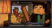 In «Minecraft: Story Mode» dürfen Zuschauer selber entscheiden, wie die Handlung weitergeht. (Bild: Screenshot)