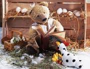 Die Teddybären-Bilder der bayrischen Fotografin Ulrike Schneiders sind ein Blickfang der neuen Sonderausstellung im Appenzeller Volkskundemuseum in Stein. (Bild: Ulrike Schneiders)