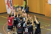 Hat die SG Obwalden, hier im Spiel gegen Lugano (1:3-Niederlage), auch morgen Nachmittag im Derby gegen den VBC Buochs einen Grund zum Feiern? (Bild: Roger Grütter (Sarnen, 10. November 2018)
