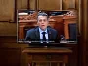 Verspricht einen Entscheid zum Rahmenabkommen in den nächsten Tagen: Aussenminister Ignazio Cassis im Ständerat. (Bild: KEYSTONE/ANTHONY ANEX)