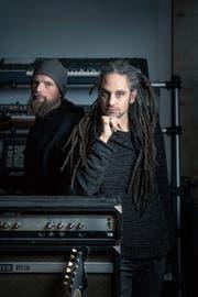 Starker Sound und passende Ästhetik: Dominik Kesseli und Michael Gallusser. (Bild: Michel Canonica)