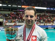 Mit Captain Matthias Hofbauer gewann das Schweizer Unihockey-Nationalteam an der WM 2016 in Riga Bronze (Bild: KEYSTONE/FABIAN TREES)