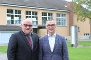 Schulpräsident Heinz Leuenberger und Gemeindepräsident Roman Brülisauer. (Bild: Hannelore Bruderer)
