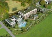 Im Spätherbst 2007 wurden erste Visualisierungen eines möglichen Parkhotels Bad Rans in der Gemeinde Sevelen publik. (Bild: PD)