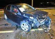 Das andere Fahrzeug mit Totalschaden. (Bild: Luzerner Polizei (Dagmersellen, 29. November 2018))