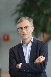 Karl Kobelt (59) von der FDP heisst Zugs neuer Stadtpräsident. (Bild: Daniel Frischherz/Zuger Presse (Zug, 7. Oktober 2018))