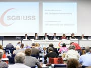 SGB-Delegiertenversammlung am Freitag in Bern. (Bild: Keystone/ANTHONY ANEX)