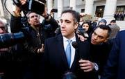 Michael Cohen, der Ex-Anwalt von US Präsident verlässt das Gericht. (Keystone/Justin Lane (News York, 29. November 2018))