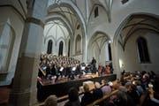 Am Samstag traten gleich mehrere Chöre gemeinsam in der katholischen Kirche Unterägeri auf. (Bild: Maria Schmid (Unterägeri, 3.November 2018))