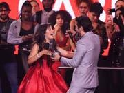 Camila Cabello ist die grosse Siegerin bei den MTV Europe Music Awards 2018 in Bilbao. (Foto: Stuart C. Wilson, pool photo via AP) (Bild: KEYSTONE/AP Getty Images Europe/STUART C. WILSON)