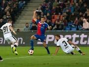 Kevin Bua erzielte für Basel die ersten beiden Tore (Bild: KEYSTONE/GEORGIOS KEFALAS)