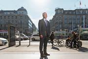 Swiss-CEO Thomas Klühr (56) am Digitaltag beim Hauptbahnhof Zürich. (Bild: Claudio Thoma (25. Oktober 2018))