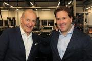 Seit vielen Jahren befreundet: Ralph Krüger (links) und Mike Alkier.