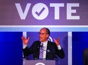 Tom Perez, Vorsitzender der Demokraten, glaubt, dass es zwei Jahre nach der Wahl von Trump eine Wechselstimmung in der Bevölkerung gibt. (Bild: Georgia, Erik S. Lesser /EPA)