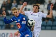 Mit der Auswechslung von Mittelfeldspieler Marvin Schulz (links) ging gegen den FC Zürich mit Hekuran Kryeziu (rechts) die Stabilität verloren. (Bild: Martin Meienberger/Freshfocus (Luzern, 4. November 2018))
