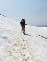 Die Strecke durch den Schnee wurde zur Herausforderung.